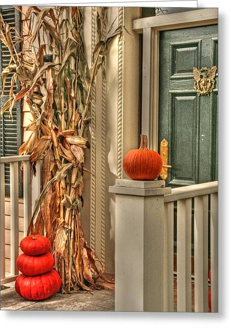 Fall Welcome Greeting Card by Heather Allen