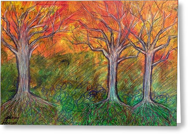 Fall Winter Spring Greeting Card by Kenny Henson