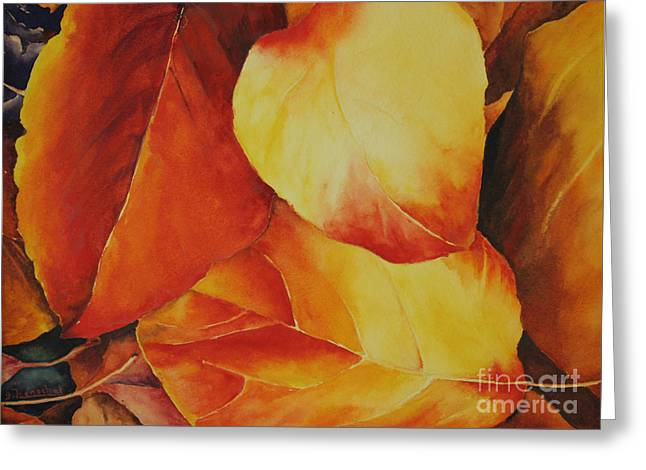 Fallen Colors Greeting Card