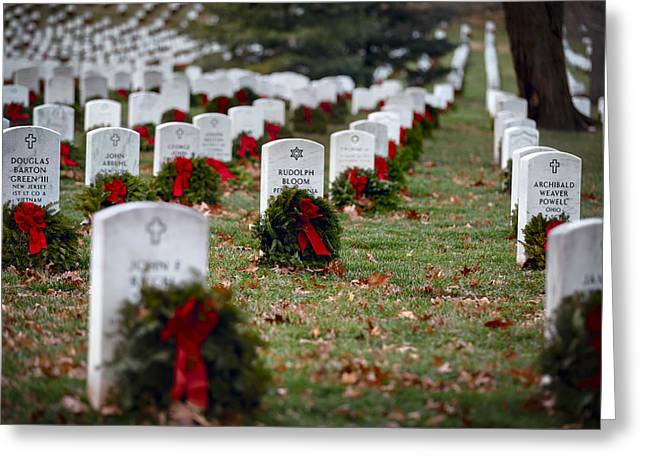 Fallen Heroes Honor And Remember Greeting Card by Eduard Moldoveanu