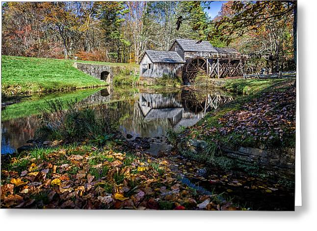 Fallen Leaves At Mabry Mill Greeting Card