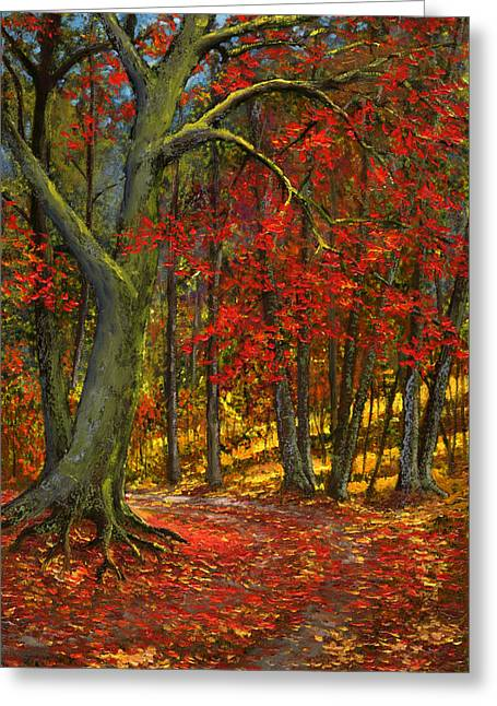 Fallen Leaves Greeting Card by Frank Wilson