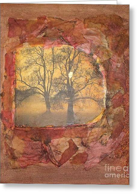 Fallen Leaves Greeting Card by Leslie Jennings