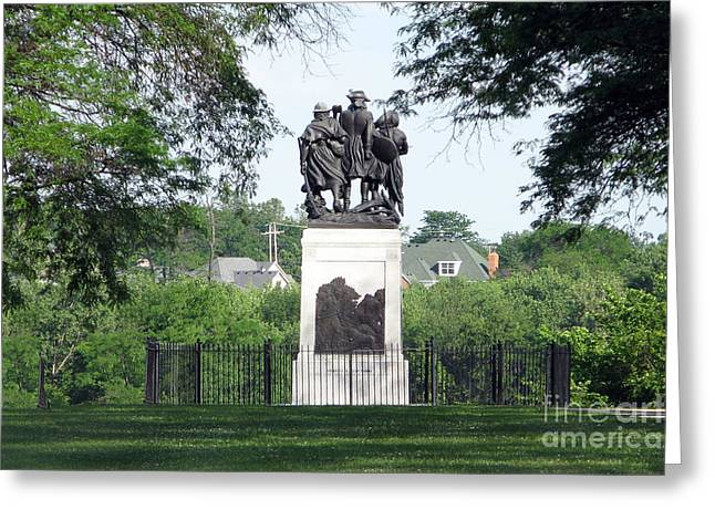 Fallen Timbers Monument  7917 Greeting Card by Jack Schultz
