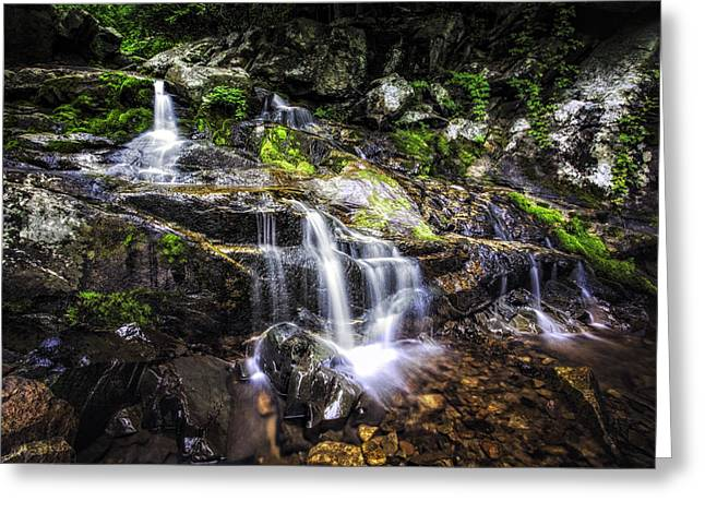 Greeting Card featuring the photograph Falling Cascades  by Joshua Minso