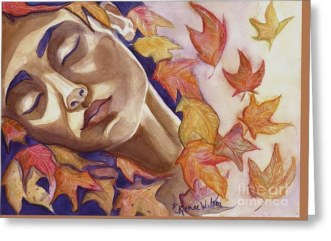 Falling Greeting Card by D Renee Wilson
