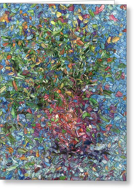 Falling Flowers Greeting Card by James W Johnson
