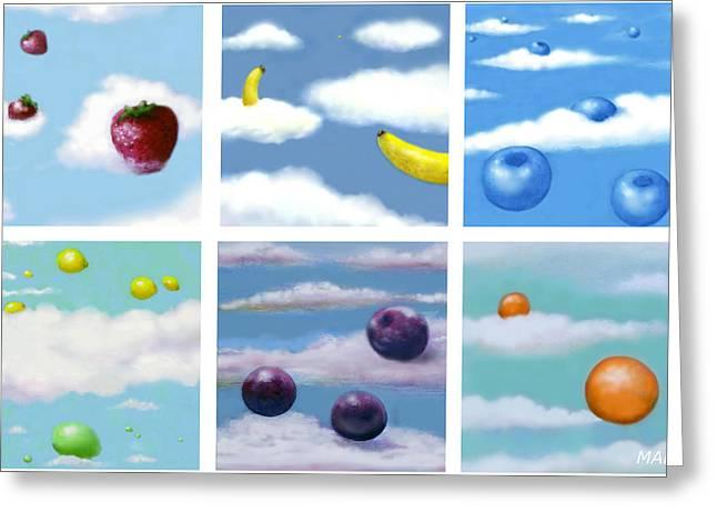 Falling Fruit Group Greeting Card