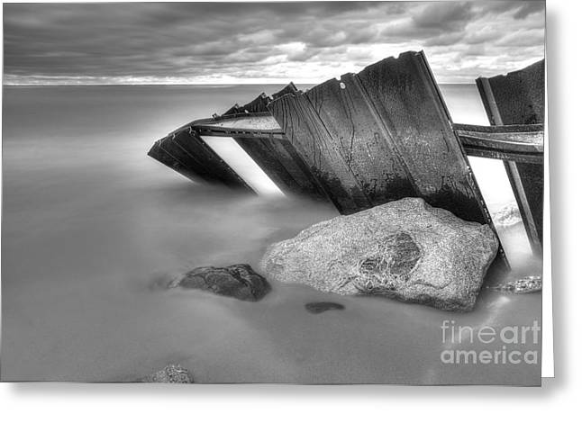 Falling Into Lake Michigan Greeting Card by Twenty Two North Photography