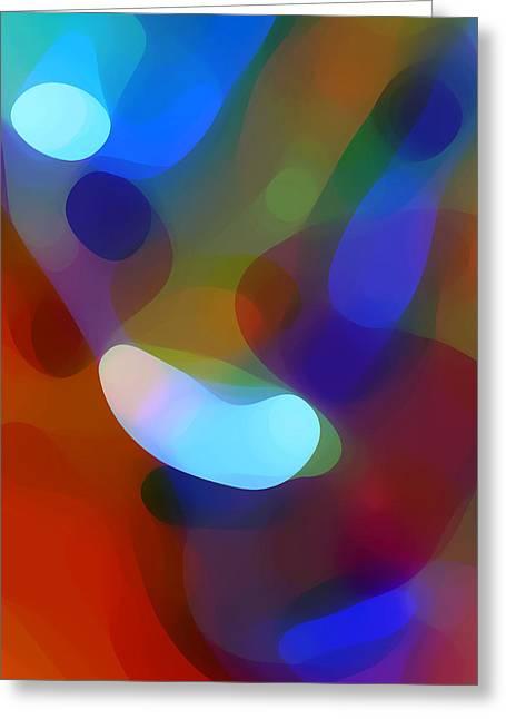 Falling Light Greeting Card by Amy Vangsgard