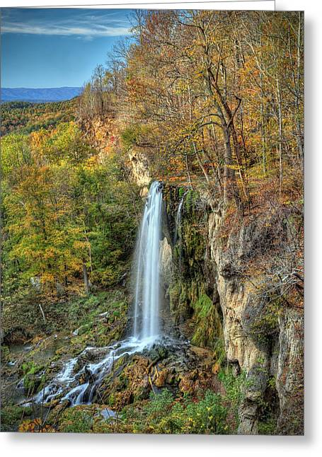 Falling Springs Falls Greeting Card
