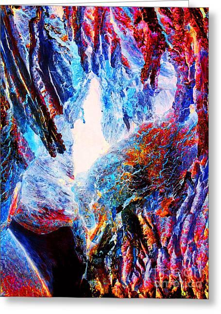 Falling Through Fire Greeting Card by Jamie Lynn