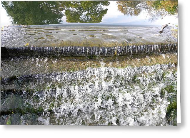 Greeting Card featuring the photograph Falling Water by Teresa Schomig