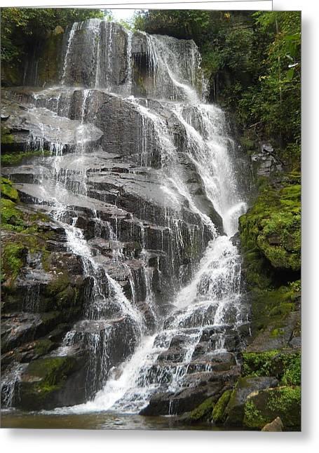 Falling Waters Greeting Card by Jeff Moose