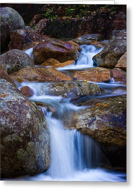 Falling Waters Greeting Card by Jeff Sinon