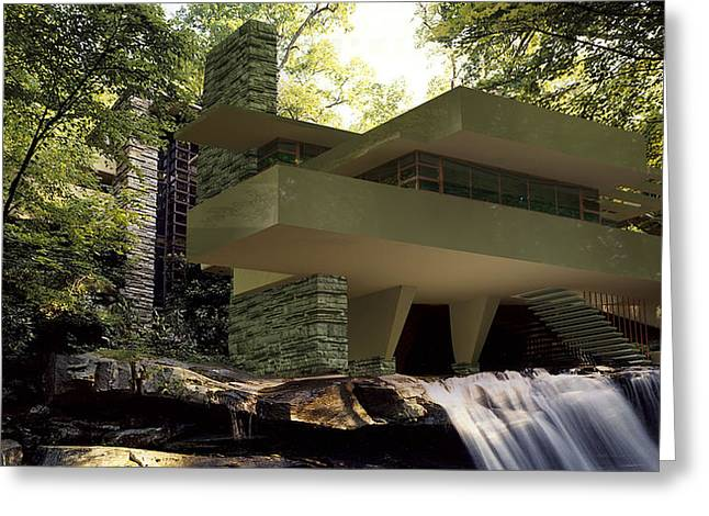 Fallingwaters Greeting Card by Louis Ferreira