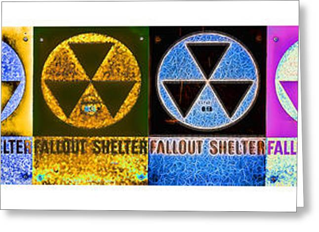 Fallout Lineup Greeting Card by Stephen Stookey