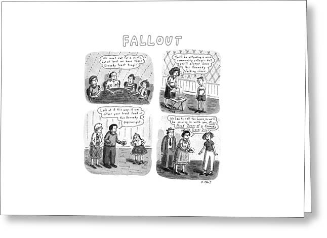 Fallout Greeting Card by Roz Chast