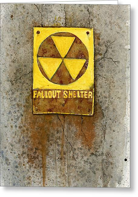 Fallout Shelter #1 Greeting Card