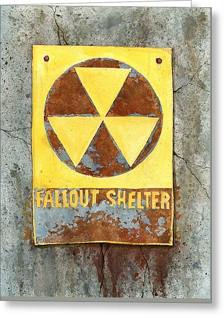 Fallout Shelter #2 Greeting Card