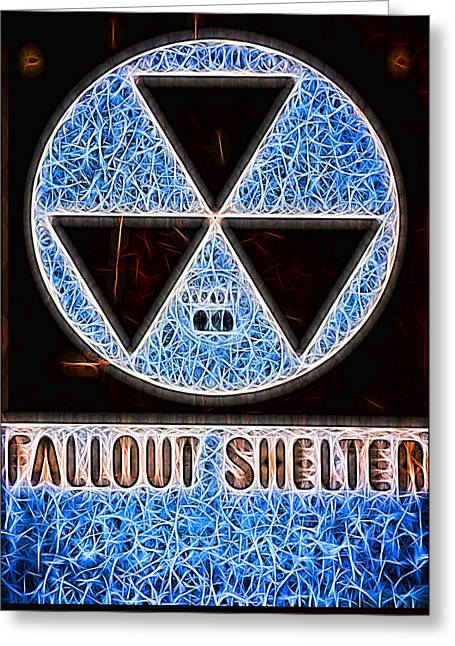 Fallout Shelter Abstract 1 Greeting Card