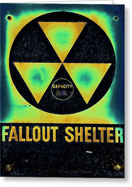 Fallout Shelter Abstract 2 Greeting Card by Stephen Stookey