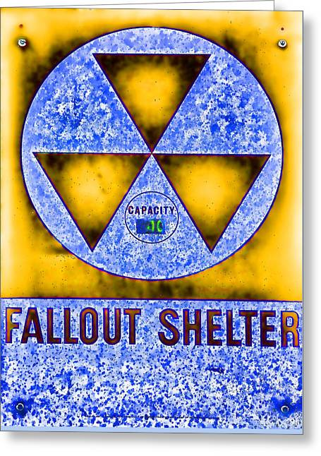 Fallout Shelter Abstract 4 Greeting Card by Stephen Stookey