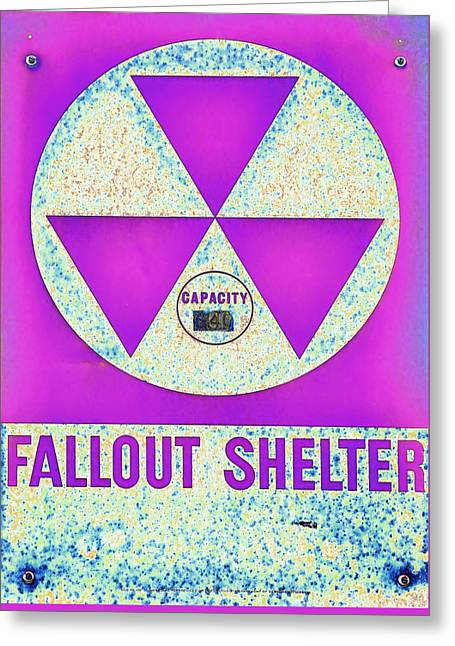Fallout Shelter Abstract 7 Greeting Card by Stephen Stookey