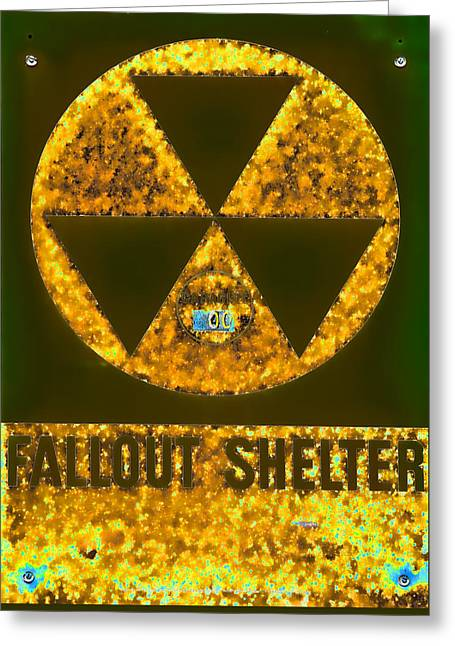 Fallout Shelter Abstract 8 Greeting Card by Stephen Stookey