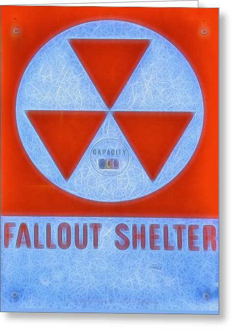 Fallout Shelter Abstract 9 Greeting Card by Stephen Stookey