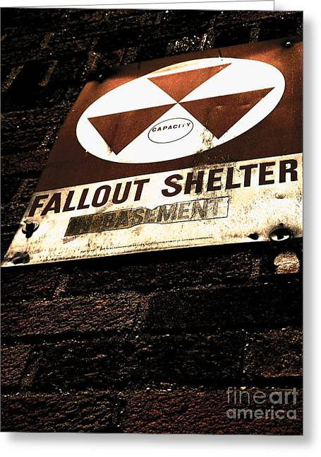 Fallout Shelter Greeting Card by James Aiken