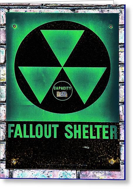 Fallout Shelter Wall 1 Greeting Card