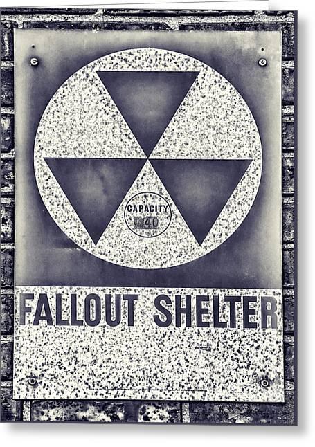 Fallout Shelter Wall 2 Greeting Card