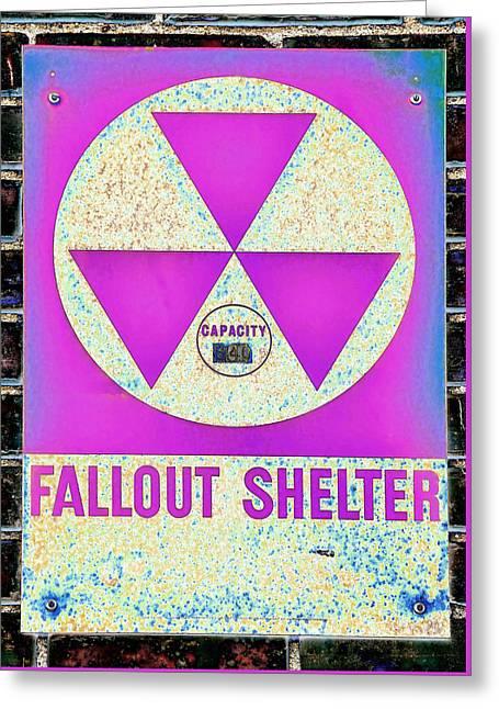 Fallout Shelter Wall 6 Greeting Card