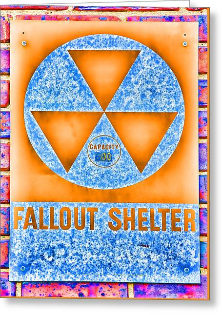 Fallout Shelter Wall 7 Greeting Card