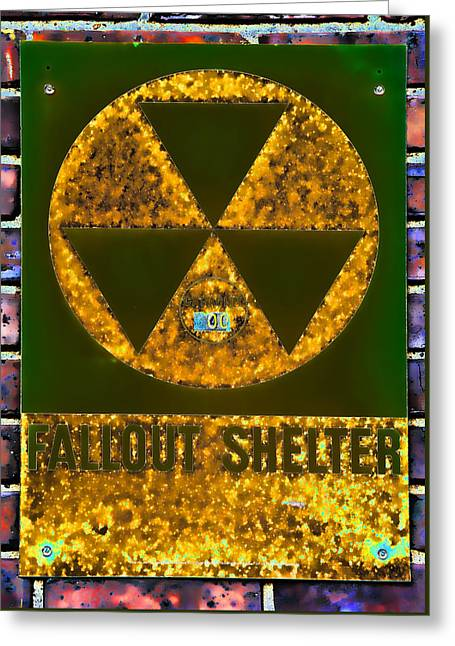 Fallout Shelter Wall 9 Greeting Card