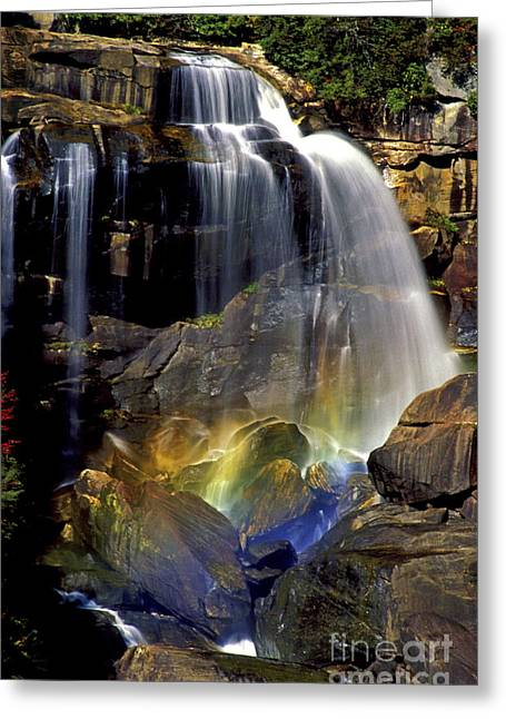 Falls And Rainbow Greeting Card by Paul W Faust -  Impressions of Light