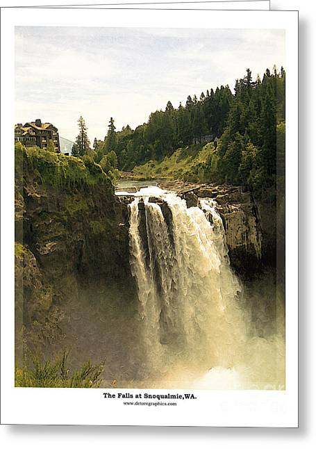 Greeting Card featuring the photograph Falls At Snoqualmie by Kenneth De Tore