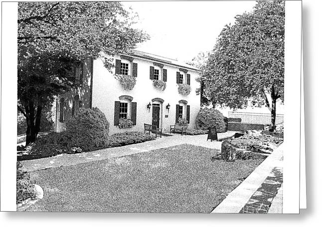 Falls Cottage - Architectural Rendering Greeting Card by A Wells Artworks