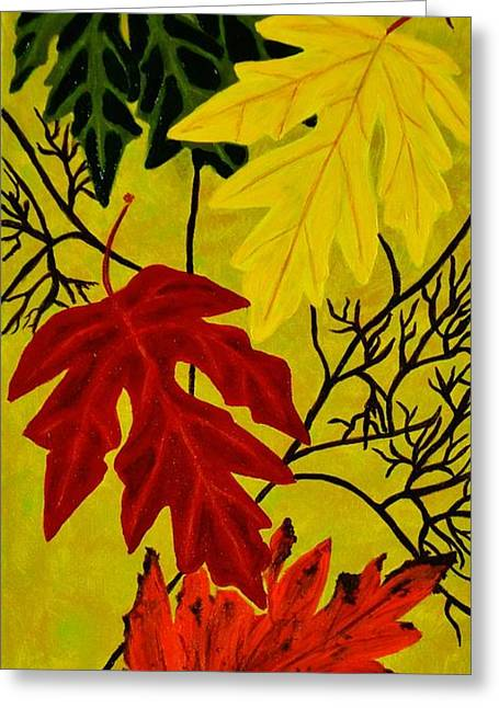 Fall's Gift Of Color Greeting Card by Celeste Manning