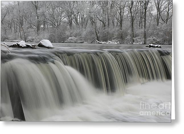 Falls In Winter Greeting Card