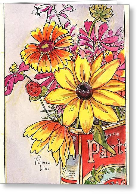 Fall's Last Bouquet Greeting Card
