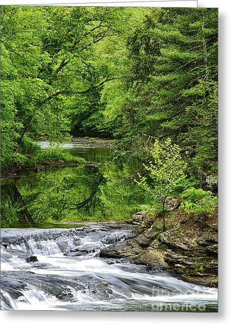 Falls Mill Along The Little Kanawha River Greeting Card