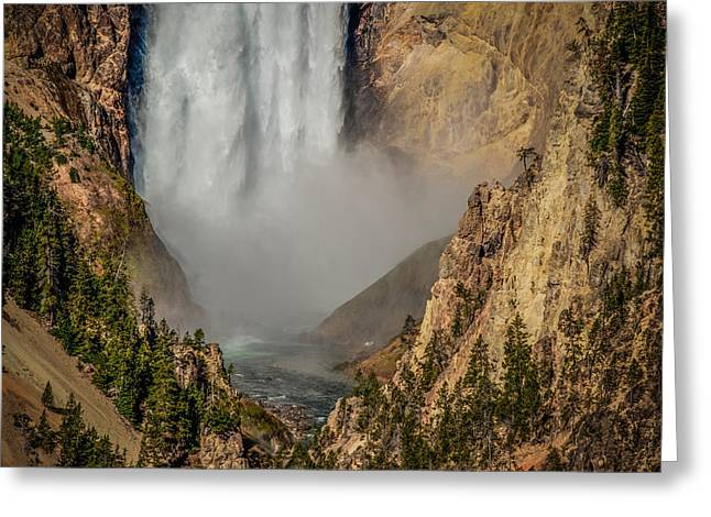 Falls Mist Greeting Card by Yeates Photography