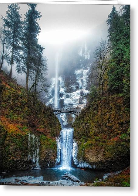 Falls Of Heaven Greeting Card by James Heckt