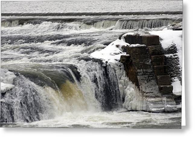 Falls Greeting Card by Valerie Wolf