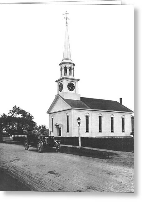 Falmouth Church In Hyannis Greeting Card by Underwood Archives