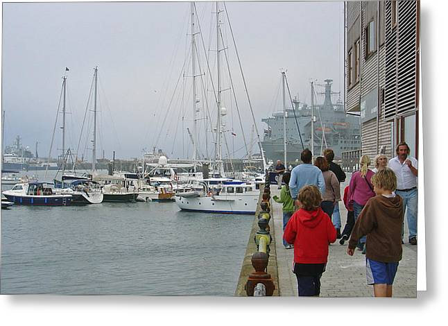 Falmouth Harbour - 02 Greeting Card by Rod Johnson