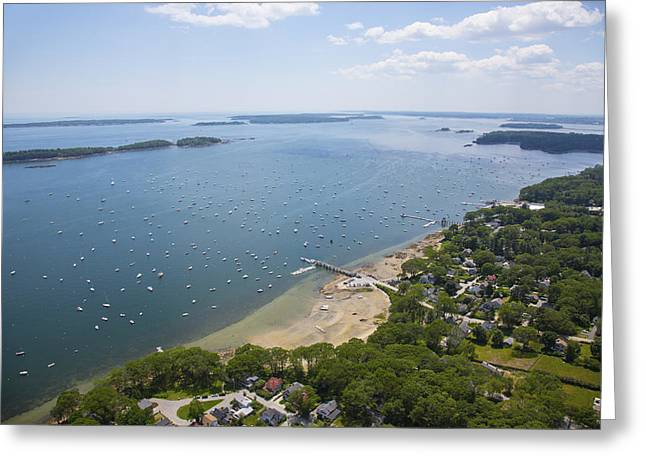 Falmouth, Maine Greeting Card by Dave Cleaveland