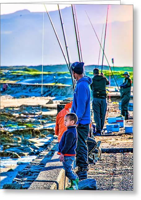 False Bay Fishing 2 Greeting Card by Cliff C Morris Jr